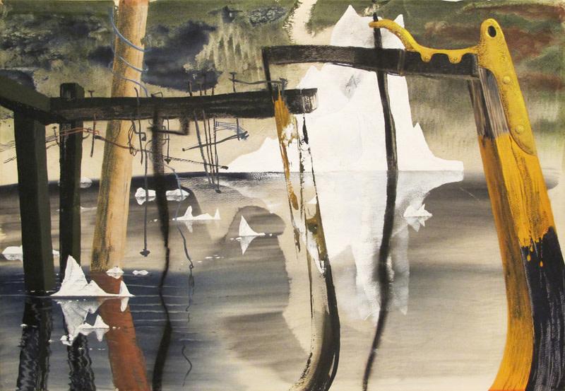 John Tunnard, Untitled (Icebergs)