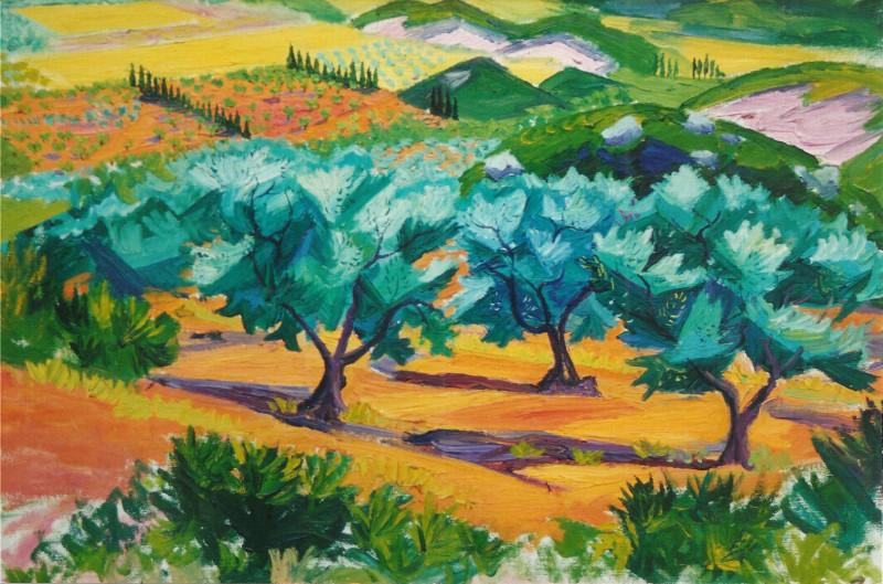 Frederick Gore, Olive Trees, Mas d'Adam, Les Beaux