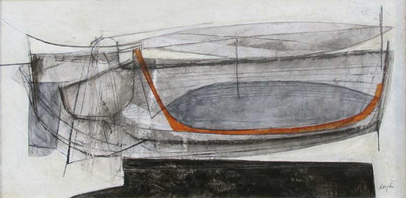 Leigh Davis, Moored Boat, Newlyn Quay