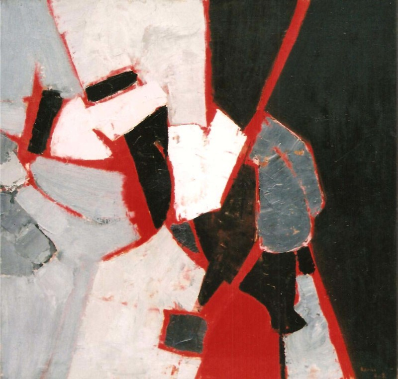 Adrian Heath, Composition - Red, Black and Grey