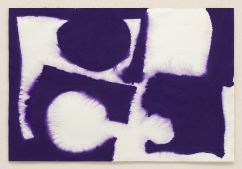 Patrick Heron, Dull Violet Flooding White: December 1966