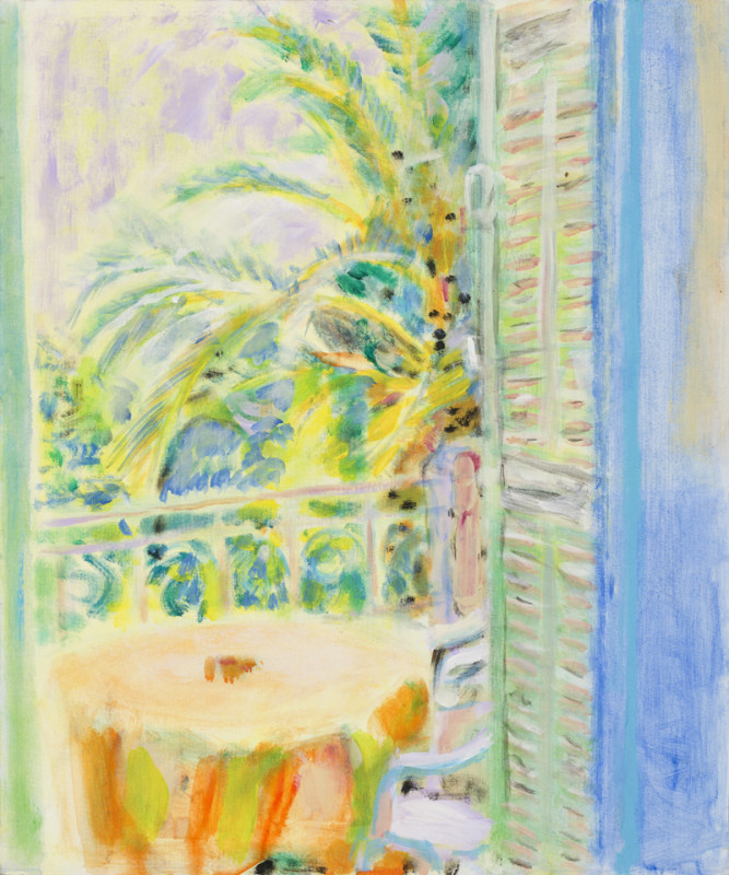 Gary Wragg, Le Rêve, Balcony, Table and Shutters