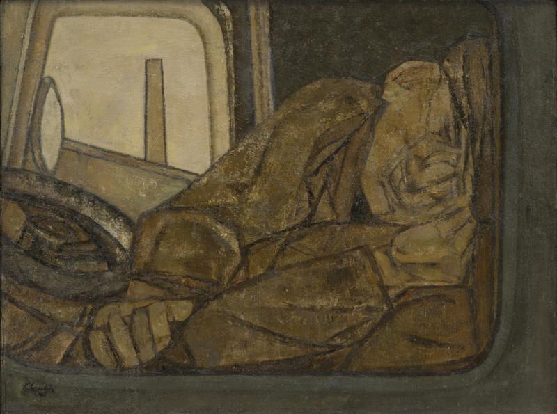 Prunella Clough, Sleeping Lorry Driver 1