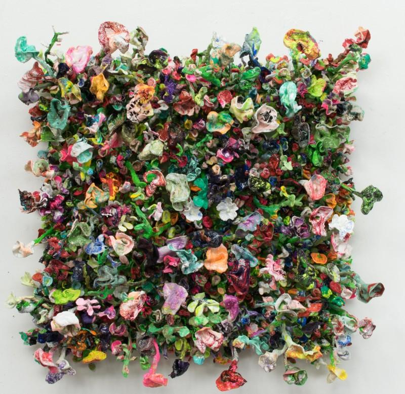 Stefan Gross, Flower Bonanza - green, 2018