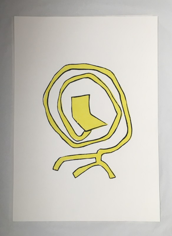 Bart Eysink Smeets, Yellow Rocking Chair print, 2018
