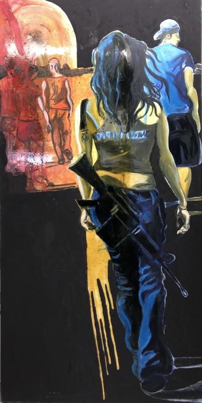 Rob Visje, Woman with gun 4, 2019