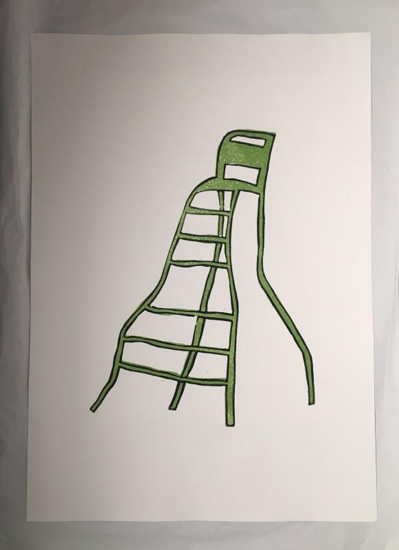 Green Chair print