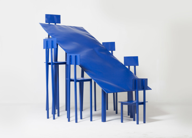 Bart Eysink Smeets, Blue table with chairs