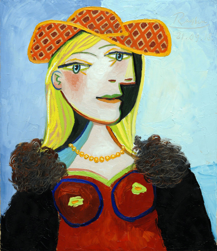Erik Renssen, Blond girl with necklace, 2018