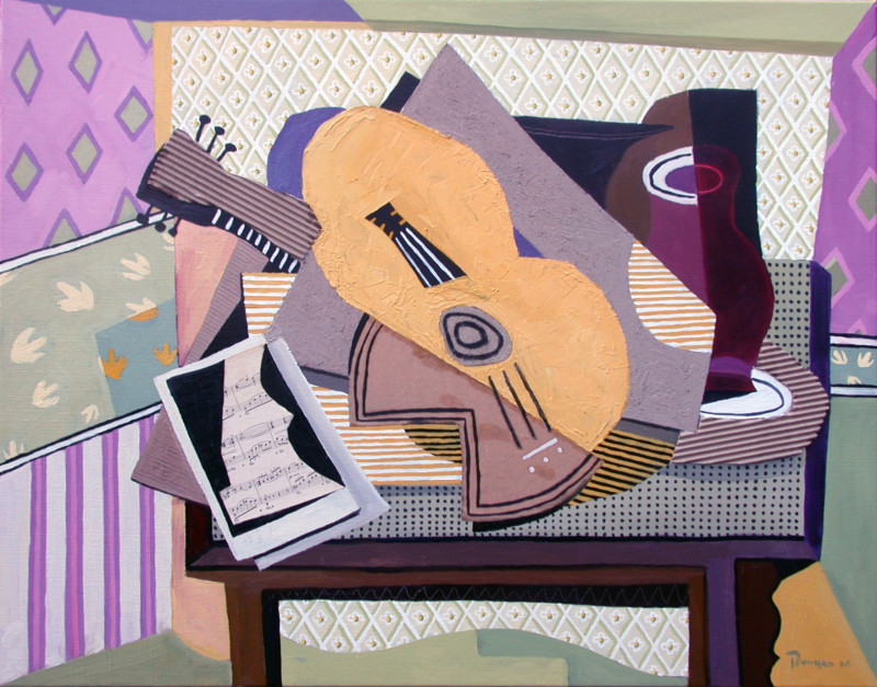 Erik Renssen, Still life with guitar, 2006