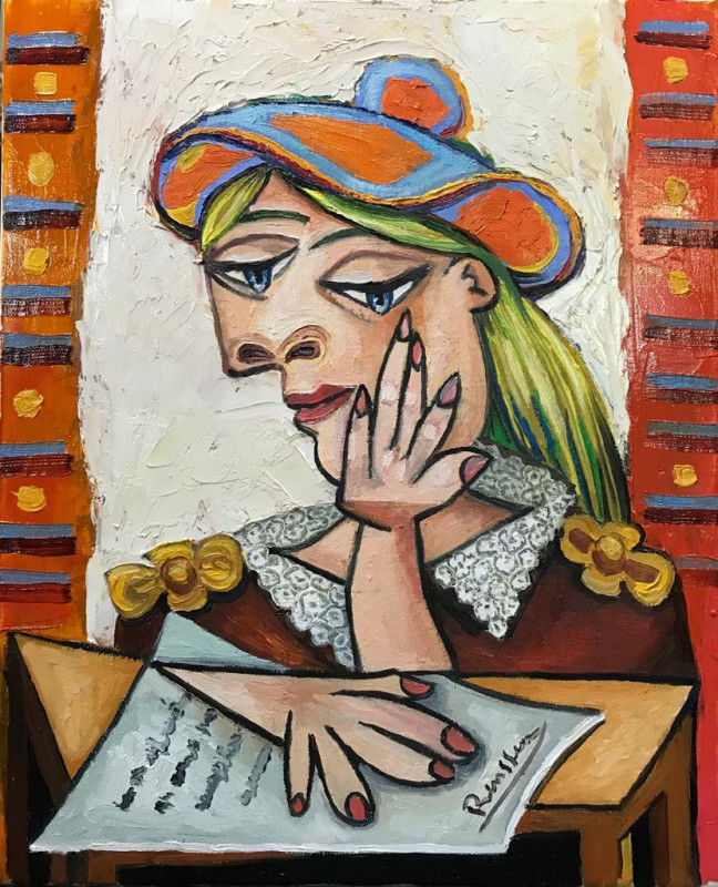 Erik Renssen, Woman reading a letter, 2019