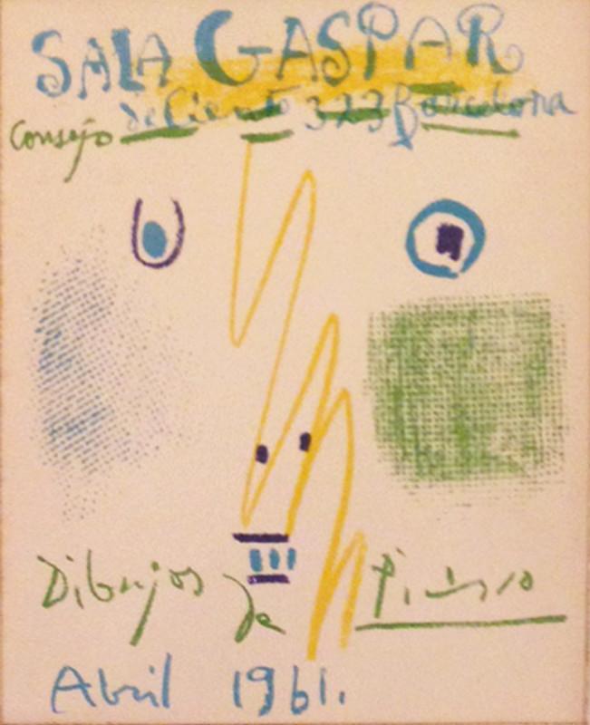 Pablo Picasso, Sala Gaspar, 1961