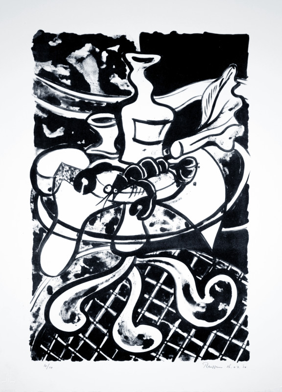 Erik Renssen, Lobster on a Table, 2010