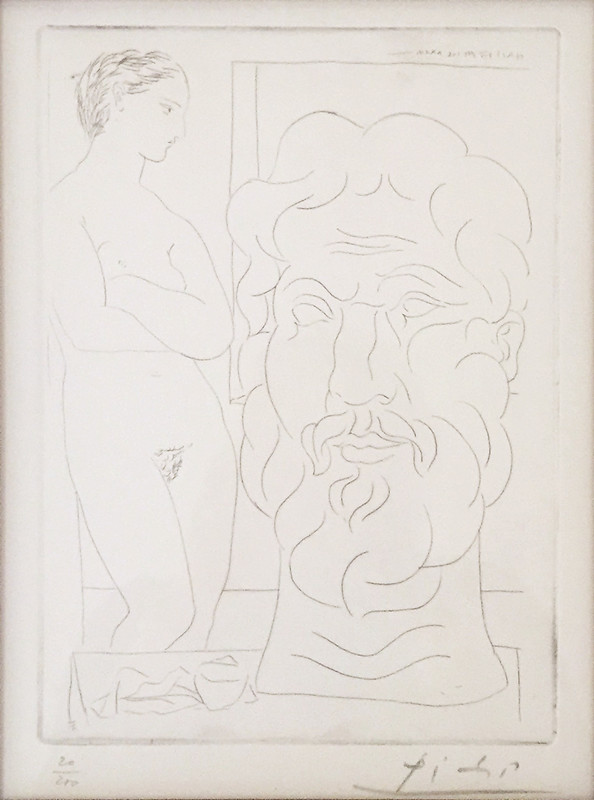 Pablo Picasso, Model and sculptured head, 1933