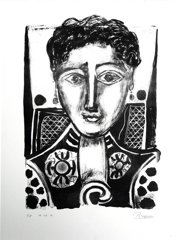 Erik Renssen, Woman with earrings, 2014
