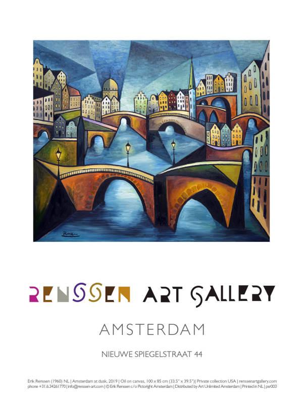 Erik Renssen, Amsterdam at dusk, 2019, 2019