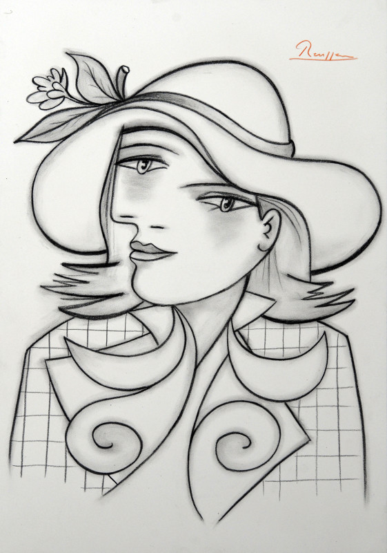 Erik Renssen, Lady with a hat, 2018