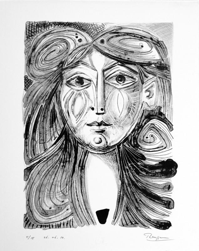 Erik Renssen, Face of a girl, 2014