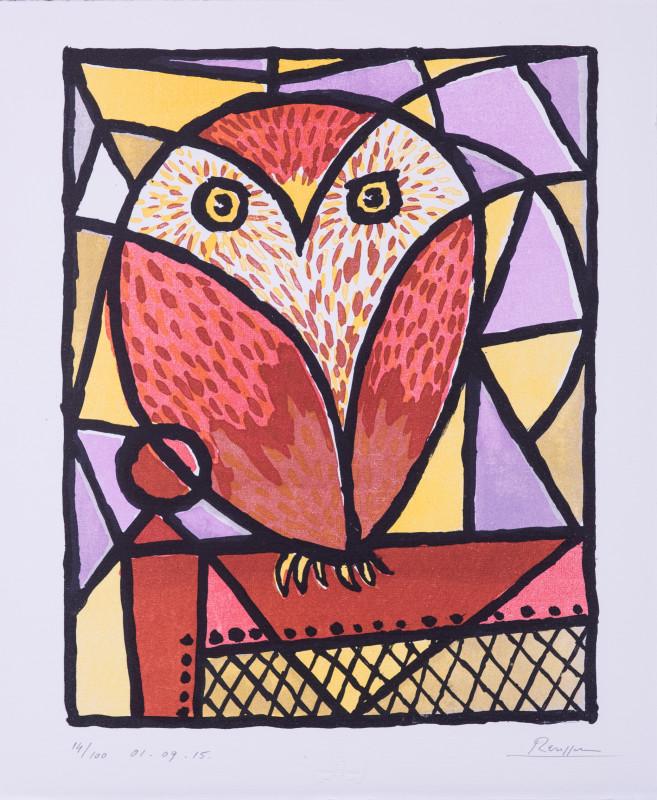 Erik Renssen, Little owl on a chair, 2015