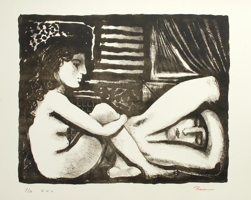 Erik Renssen, Woman watching a sleeping man , 2011