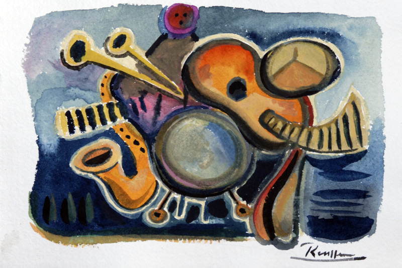 Erik Renssen, Still life with instruments, 2018