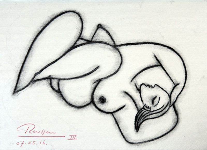 Erik Renssen, Sleeping nude II, 2016