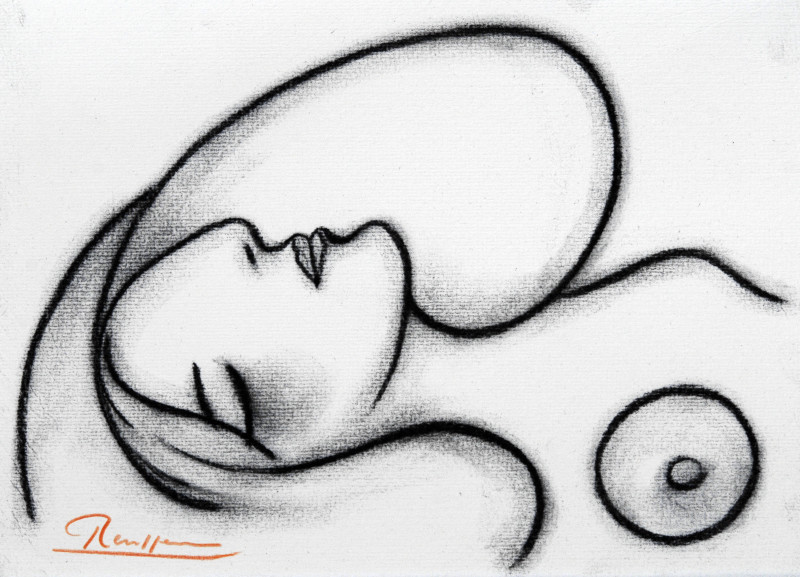 Erik Renssen, Sleeping nude, 2018