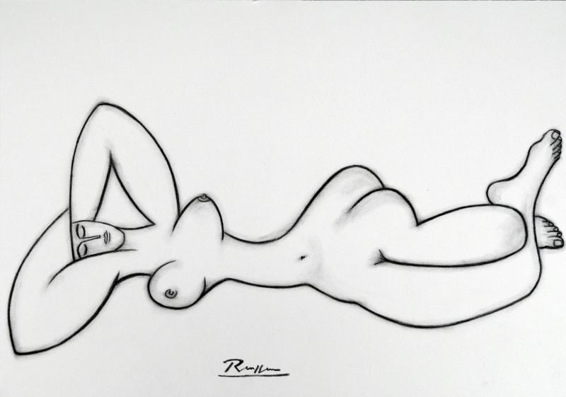 Erik Renssen, Relaxing nude, 2017
