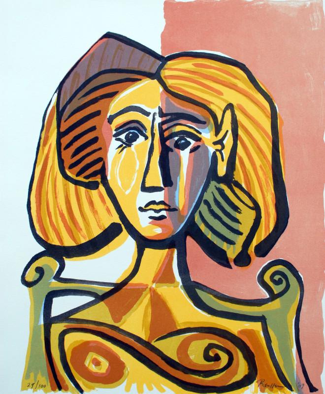 Erik Renssen, Woman in a wooden chair, 2009
