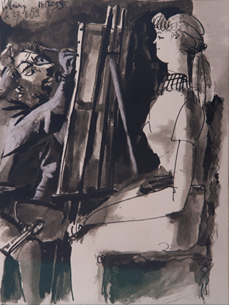 Pablo Picasso, Painter and model, 1953