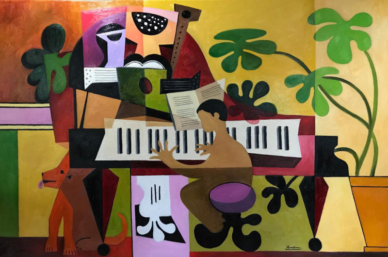 Erik Renssen, Pianist, dog and instruments, 2019
