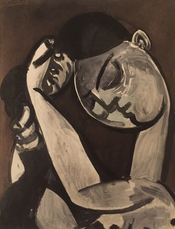 Pablo Picasso, Woman combing her hair, 1956