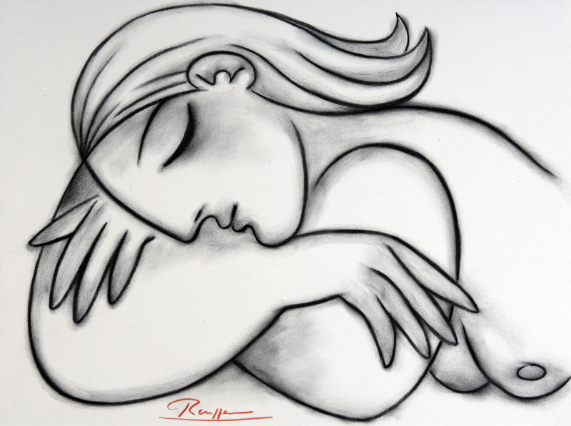 Erik Renssen, Sleeping nude IX, 2017