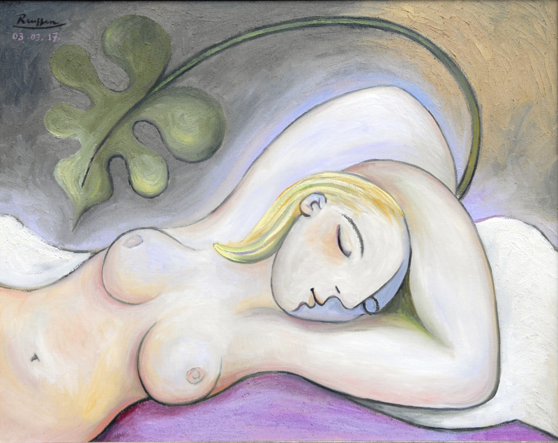Erik Renssen, Sleeping nude, 2017