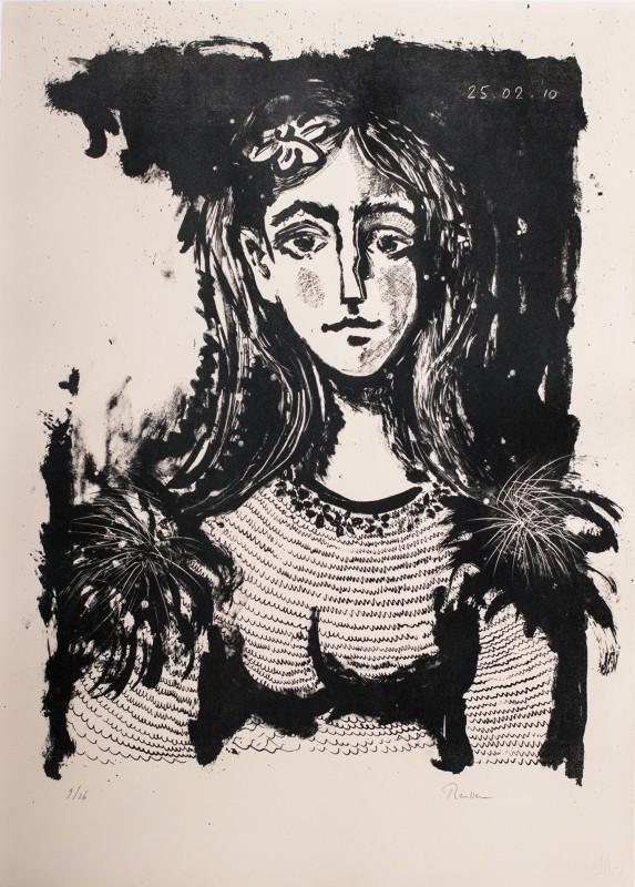 Erik Renssen, Woman with flower in her hair, 2010