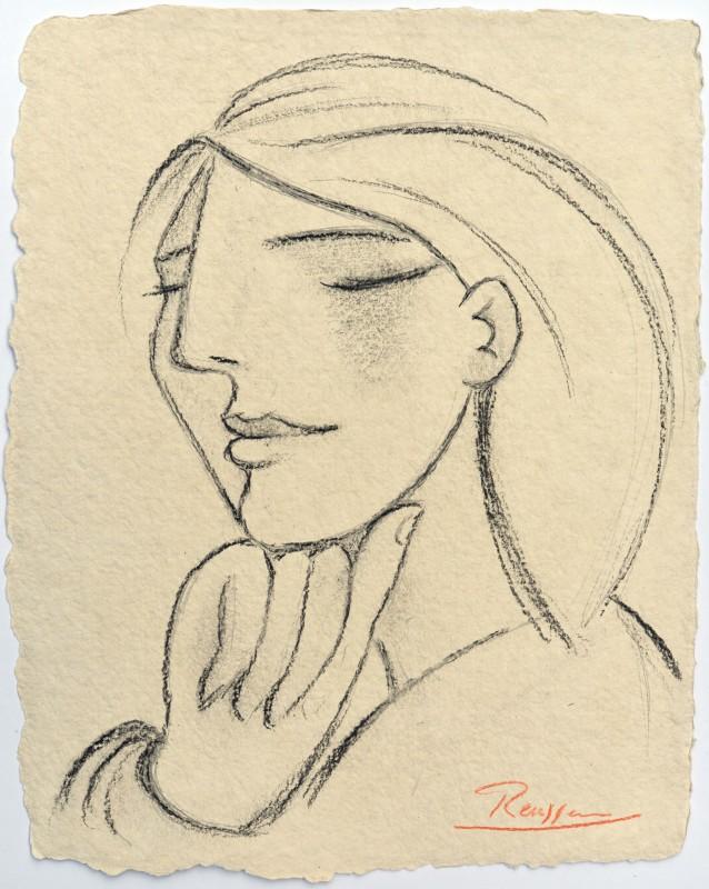Erik Renssen, Pondering woman, 2019