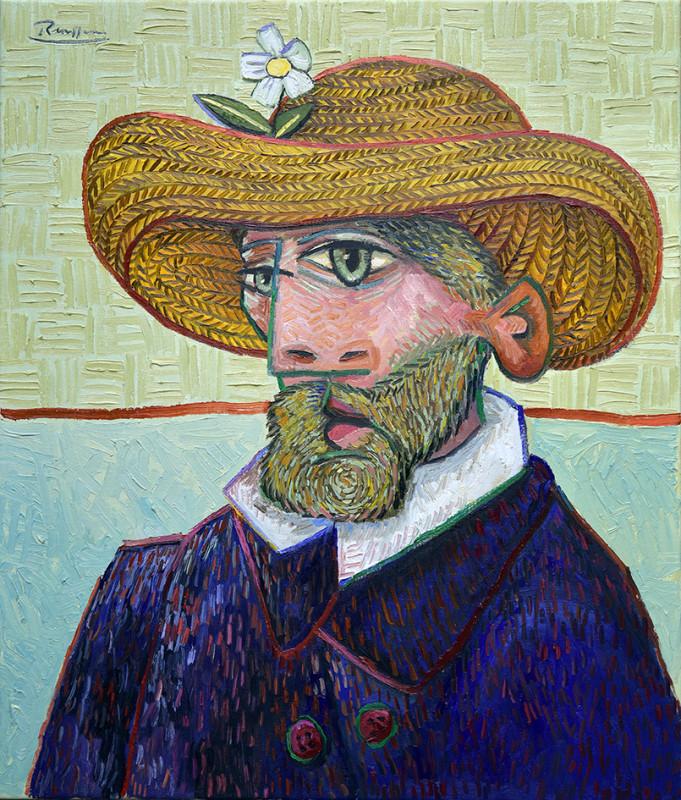 Erik Renssen, Man in a straw hat, 2019