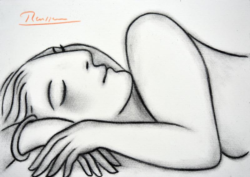Erik Renssen, Woman resting, 2018