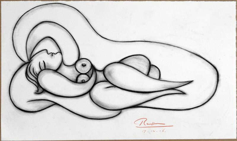 Erik Renssen, Reclining nude VIII, 2016