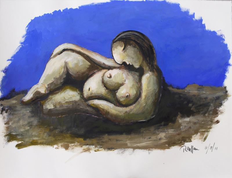 Erik Renssen, Reclining nude VII, 2011