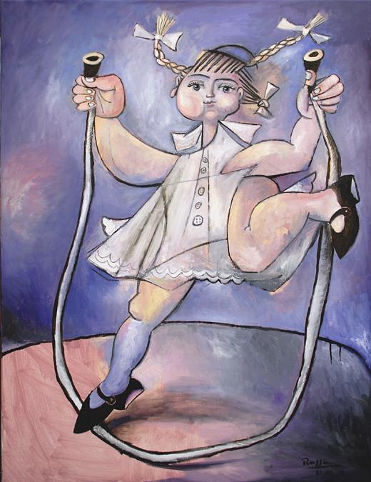 Erik Renssen, Girl skipping rope, 2012