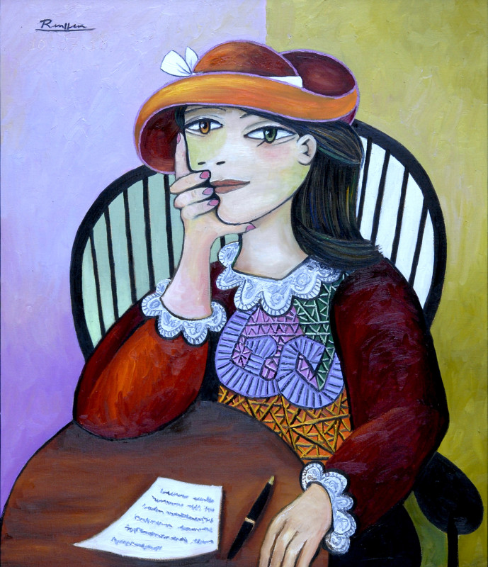 Erik Renssen, Woman writing a letter, 2018