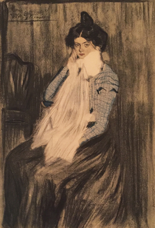 Pablo Picasso, Portrait of a woman, 1899