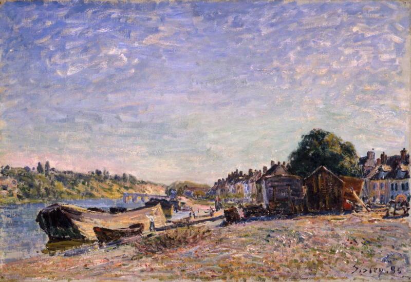 Alfred Sisley, Les Bords du Loing a Saint Mammes, 1885