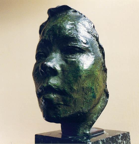 Auguste Rodin, Mask of Hanako, c.1908