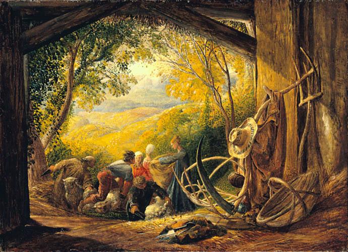 Samuel Palmer, The Shearers , 1833-34
