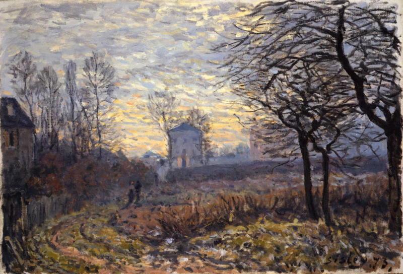 Alfred Sisley, Le Couple-Environs de Louveciennes , 1873