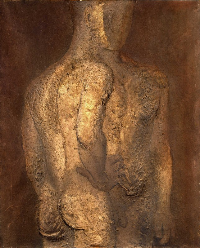 Pavel Tchelitchew, Oil and sand, 1928