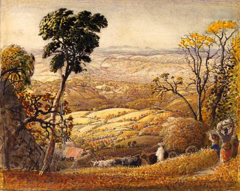 Samuel Palmer, The Golden Valley, 1833-34