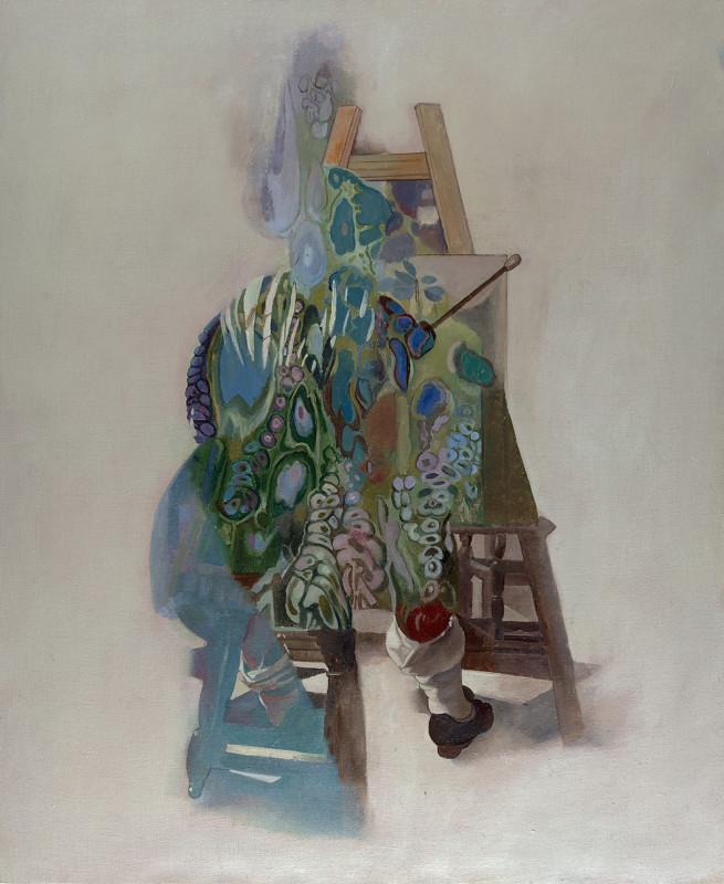 Wolfe von Lenkiewicz, Artist in the Studio, 2018